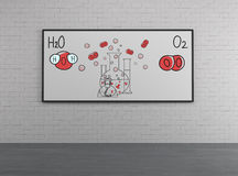 Chemical elements H2O and O2 Stock Image