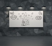 Chemical elements H2O and O2 Stock Photography