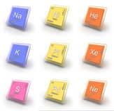 Chemical elements Royalty Free Stock Photos