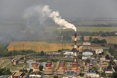 The chemical enterprise Nitrogen in Cherkassy stock image
