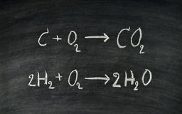 Chemical equation Stock Photography