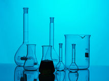 Chemical equipment. For samples analyses Stock Photo