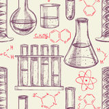 Chemical equipment and formulas Stock Photos