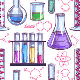 Chemical equipment and formulas - 2 Stock Photos