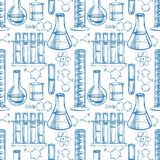 Chemical equipment and formulas Stock Image