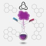 chemical erfarenhet stock illustrationer