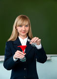Chemical experience in the classroom Stock Photography