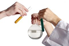Chemical experiment. Image about chemical experiment in laboratory Stock Images