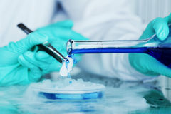 Chemical experiment Royalty Free Stock Images