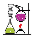 Chemical experiment set Stock Image