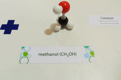 chemical för molekylar vektorwallpaper sömlöst Royaltyfria Foton
