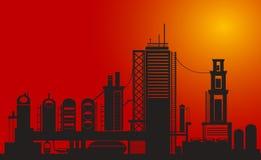chemical fabrik stock illustrationer