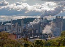 chemical fabrik Arkivfoto