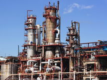 chemical fabrik arkivbilder