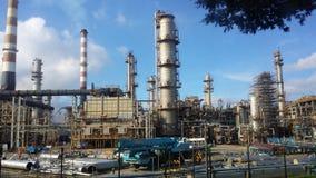 chemical fabriksolja Royaltyfria Bilder