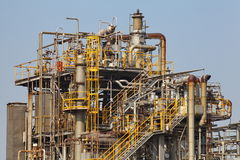 chemical fabriksolja Arkivbild
