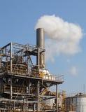 chemical fabriksolja Royaltyfri Fotografi