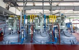 chemical fabriksolja Arkivfoton
