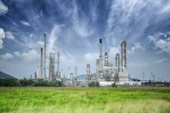 chemical fabriksolja Royaltyfria Foton