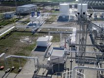 chemical fabriksolja Arkivfoto