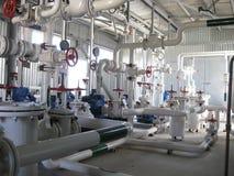 chemical fabriksolja Royaltyfri Bild