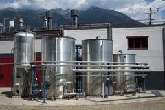 Chemical fabriksväxt Arkivbilder