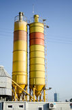 Chemical facility towers Stock Photography