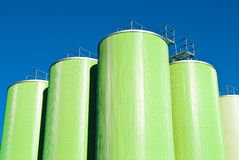 Chemical factory. Tanks over blue sky Royalty Free Stock Photography