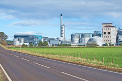 Chemical Factory. Chemical factory in the countryside Stock Images