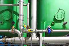 Chemical factory business Royalty Free Stock Image