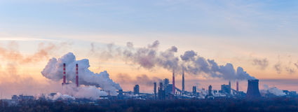 Chemical factory on morning Stock Images