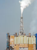 Chemical factory polluting air Stock Photo