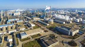 Chemical factory shandong china. The chemical factory in qingdao shandong China Stock Images