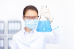 Chemical female researcher Stock Image