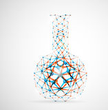Chemical flask. Of the molecular structure. Eps 10 Royalty Free Stock Image