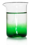 Chemical flask with green liquid Stock Photography