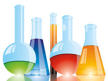 Chemical flasks Royalty Free Stock Photo