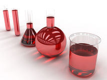 Chemical flasks with liquid  #5 Stock Photos