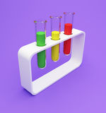 Chemical flasks with reagents. Illustration of chemical flasks with reagents royalty free stock photo