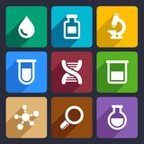 Chemical Flat Icons Set 49 Stock Image