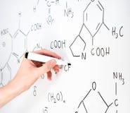 chemical formel Arkivfoton