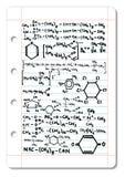 Chemical formula Royalty Free Stock Photo