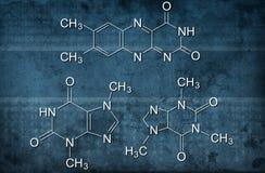Chemical formula. On grunge background Stock Photo
