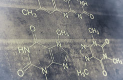 Chemical formula Stock Image