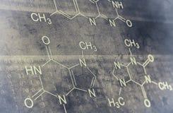 Chemical formula. On grunge background Stock Image