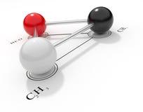 Chemical formula 3D Stock Image