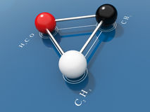Chemical formula 3D Stock Photography