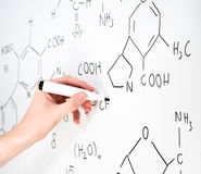 Chemical formula stock photos
