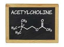 Chemical formula of acetylcholine on a chalkboard royalty free illustration