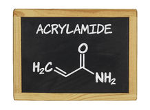 Chemical formula of acrylamid on a chalkboard Royalty Free Stock Photography